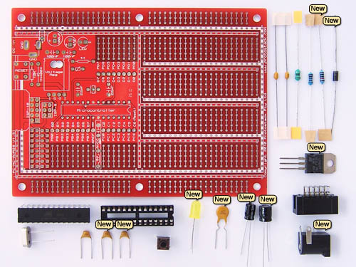 10 extra components for atmega168 development kit