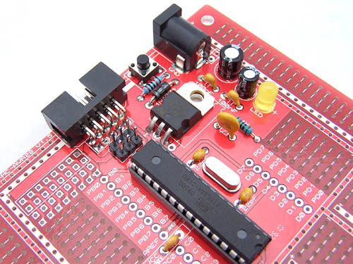 New version of Protostack AVR 28 pin board