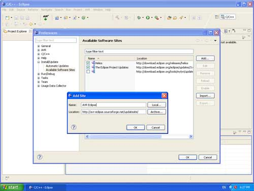 AVR Eclipse Plugin Installation