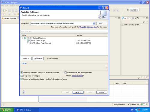AVR Eclipse Plugin Installation