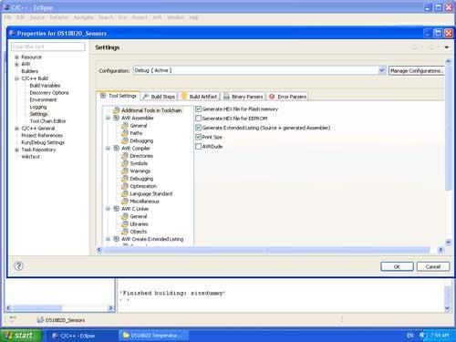 Select the USBASP Programmer configuration