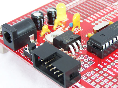 28 Pin AVR Development Board - Version 1.6