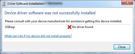 USBasp Drivers for Windows 7 – Embedded Electronics Blog