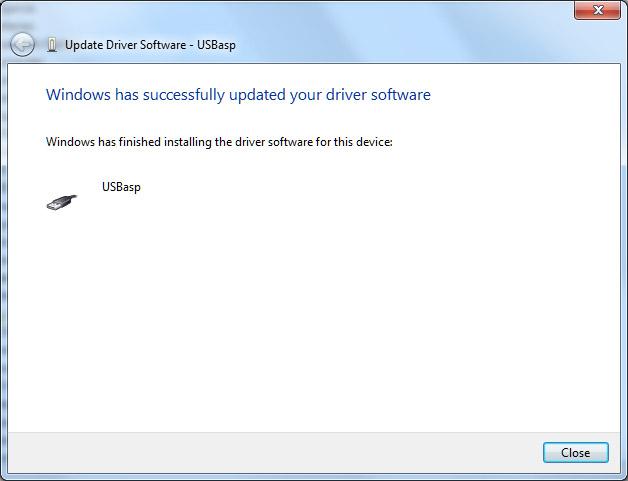 USBASP Windows Driver Version 3.0.7 - Protostack